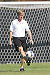 26 October 2008: Duke associate coach Billy Lesesne. The Duke University Blue Devils defeated the Clemson University Tigers 6-0 at Koskinen Stadium in Durham, North Carolina in an NCAA Division I Women's college soccer game.