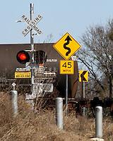 Chemical railroad car at Sulphur creek overpass. Near the Lampasas River, Texas.