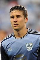 Sporting Park, Kansas City, Kansas, July 31 2013:<br /> Matt Besler (5) defender MLS All-Stars <br /> MLS All-Stars were defeated 3-1 by AS Roma at Sporting Park, Kansas City, KS in the 2013 AT &amp; T All-Star game.