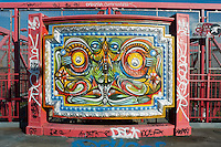 New York, NY 17 September 2008 - Graffiti piece on the Williamsburg Bridge.