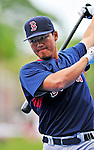 11 March 2010: Boston Red Sox outfielder Che-Hsuan Lin awaits his turn in the batting cage prior to a Spring Training game against the New York Mets at Tradition Field in Port St. Lucie, Florida. The Red Sox defeated the Mets 8-2 in Grapefruit League action. Mandatory Credit: Ed Wolfstein Photo
