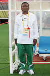 12 August 2008: Nigeria head coach Joseph Ladipo (NGR).  The women's Olympic team of Brazil defeated the women's Olympic soccer team of Nigeria 3-1 at Beijing Workers' Stadium in Beijing, China in a Group F round-robin match in the Women's Olympic Football competition.