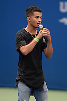 FLUSHING NY- AUGUST 26: Jordan Fisher performs during rehearsals for Arthur Ashe kids day at the USTA Billie Jean King National Tennis Center on August 26, 2016 in Flushing Queens. Photo byMPI04 / MediaPunch
