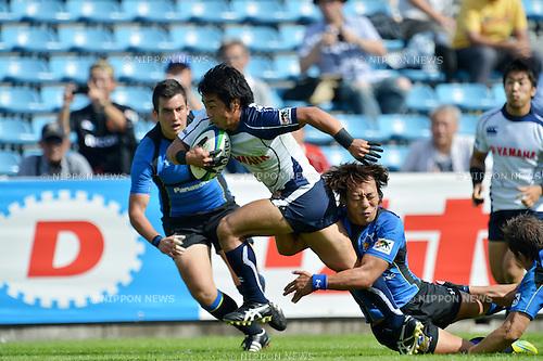 Masatoshi Miyazawa (Jubilo),.OCTOBER 13, 2012 - Rugby : Japan Rugby Top League 2012-2013, 6th Sec match between Panasonic Wild Knights 35-18 YAMAHA Jubilo at Chichibunomiya Rugby Stadium, Tokyo, Japan. (Photo by Jun Tsukida/AFLO SPORT) [0003].