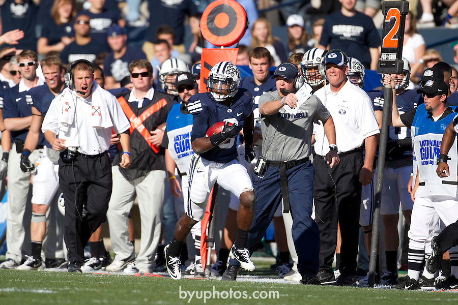 _3MP5328.jpg..11FTB BYU vs Idaho State..The BYU Football Team defeats Idaho State by a score of 56-3 at Lavell Edwards Stadium in Provo, Utah...October 22, 2011..Photo by Mark A. Philbrick/BYU..© BYU PHOTO 2011.All Rights Reserved.photo@byu.edu  (801)422-7322