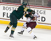 Caylen Walls (UVM - 26), Steven Whitney (BC - 21) - The Boston College Eagles defeated the University of Vermont Catamounts 4-1 on Friday, February 1, 2013, at Kelley Rink in Conte Forum in Chestnut Hill, Massachusetts.