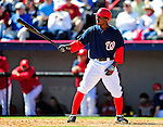 6 March 2010: Washington Nationals' outfielder Nyjer Morgan in action during a Spring Training game against the New York Mets at Space Coast Stadium in Viera, Florida. The Mets defeated the Nationals 14-6 in Grapefruit League action. Mandatory Credit: Ed Wolfstein Photo
