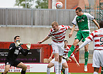 Colin Nish cracks a header off Tomas Cerny's bar