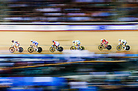 Picture by Charlie Forgham-Bailey/SWpix.com - 04/03/2016 - Cycling - 2016 UCI Track Cycling World Championships, Day 3 - Lee Valley VeloPark, London, England - Jonathan Dibben of GBR competing in the Men's Points Race