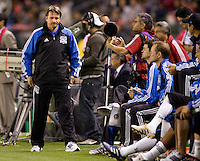 San Jose Earthquakes headcoach Frank Yallop wondering what could have been. CD Chivas USA defeated the San Jose Earthquakes 3-2 at the  at Home Depot Center stadium in Carson, California on Saturday April 24, 2010.  .
