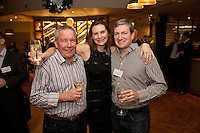 Anne-Marie Hunt from Nat West with Paul Tewson (left) and Chris Hall of Gilbert & Hall
