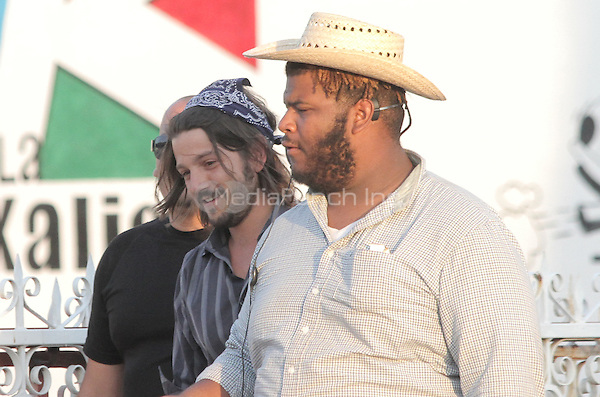 "Diego Luna seen leaving ¨La Campechana¨ in *Hermosillo while on location for his next film ""César Chávez Fight in the Field"". Sonora, Mexico*. June 1, 2012. Photo: Tirador Primero/NortePhoto/MediaPunch Inc. ***NO SPAIN*** ***NO MEXICO***"