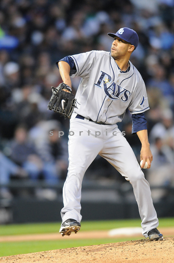 DAVID PRICE, of the Tampa Bay Rays , in action during the Rays game against the Chicago White Sox at US Cellular Field in Chicago, Illinois  on April 20, 2010...The White Sox win 4-1