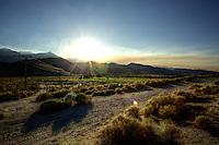 Sunset off 395 in high sierras