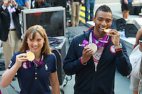 US Olympic Gold Medalists Katie Ledecky and Cullen Jones