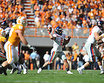 Ole Miss quarterback Jeremiah Masoli (8) passes in a college football game at Neyland Stadium in Knoxville, Tenn. on Saturday, November 13, 2010. Tennessee won 52-14.