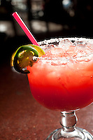 Merry Piglets' Big Pig Strawberry-Jalape&ntilde;o Margarita.