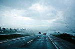 Driving on Interstate 94 in a summer rainstorm in southern Wisconsin.