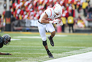 College Park, MD - November 26, 2016: Rutgers Scarlet Knights wide receiver Andre Patton (88) catches a pass during game between Rutgers and Maryland at  Capital One Field at Maryland Stadium in College Park, MD.  (Photo by Elliott Brown/Media Images International)