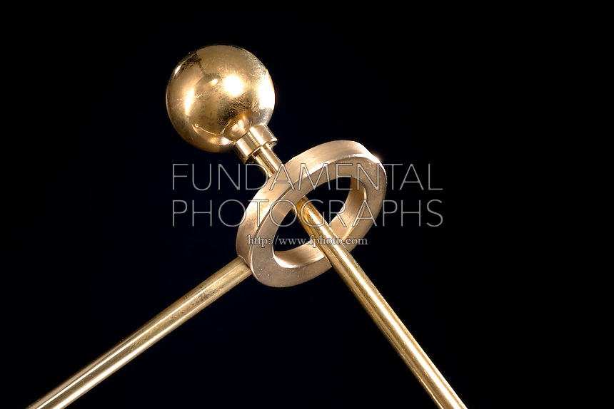 THERMAL EXPANSION: BALL &amp; RING<br /> Ball Passes Through Ring At Room Temperature<br /> (Variations Available)<br /> This brass ball fits easily through the matching ring when they are both at room temperature. Heat the ball in a flame, and it expands so that it no longer fits through.