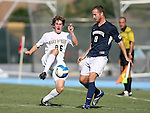 2 September 2007: Wake Forest's Justin Lichtfuss (26) and Monmouth's Chris Ell (8). The Wake Forest University Demon Deacons defeated the Monmouth University Hawks 2-0 at Fetzer Field in Chapel Hill, North Carolina in an NCAA Division I Men's Soccer game.