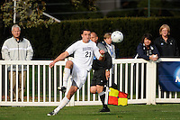 RJ Allen (21) of the Monmouth Hawks. Dartmouth defeated Monmouth 4-0 during the first round of the 2010 NCAA Division 1 Men's Soccer Championship on the Great Lawn of Monmouth University in West Long Branch, NJ, on November 18, 2010.