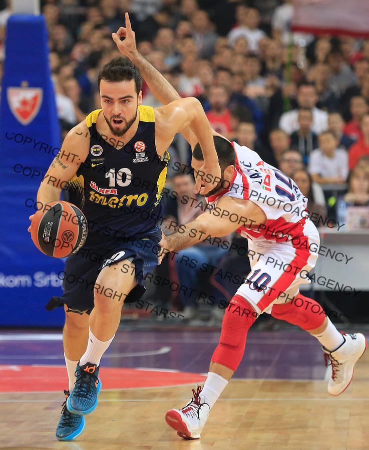 Kosarka Euroleague season 2015-2016<br /> Euroleague <br /> Crvena Zvezda v Fenebahce Istanbul<br /> Melih Mahmutoglu and Branko Lazic (R)<br /> Beograd, 06.11.2015.<br /> foto: Srdjan Stevanovic/Starsportphoto &copy;