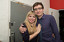 London, UK. 24.02.2014. Dawn Sievewright (who plays Esme) and Sam Buntrock (director of the show) at the after party for press night of The A to Z of Mrs P, which premieres at Southwark Playhouse. © Jane Hobson.