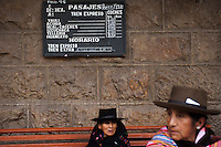 Passengers wait for the departure of the tren macho at Huancavelica Station. The train serves the Huancayo - Huancavelica route and departs at 6:30 a.m. from Huancayo and 2:00 p.m. from Huancavelica.