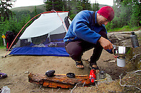 Skyline Trail, Jasper National Park, Alberta, Canada, July 2006. Snowbowl Campsite. Trekking the Skyline Trail takes you over mountain ridges and through green alpine meadows offering spectaculair mountain landscapes and lots of wildlife. Photo by Frits Meyst/Adventure4ever.com.