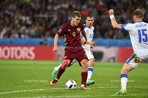 Aleksandr Kokorin (Russia) ; <br /> June 15, 2016 - Football : Uefa Euro France 2016, Group B, Russia 1-2 Slovakia at Stade Pierre Mauroy, Lille Metropole, France. (Photo by aicfoto/AFLO)