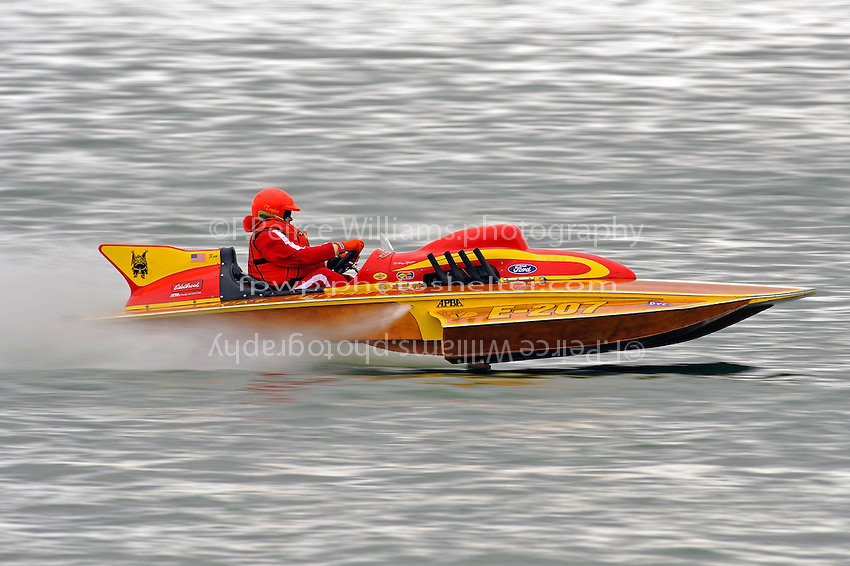"John Costtello, E-207 ""Happy Budda"" (1968 Lloyd 280 class hydroplane)"