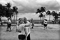 Deerfield, Florida, June 26, 2012.A weekly  'dance' on the sea front.