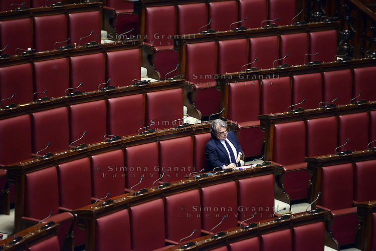 Roma, 10 Marzo 2015<br /> La Camera dei Deputati vota si alle Riforme della Costituzione.<br /> Gli scranni di Forza Italia.<br /> Renato Brunetta