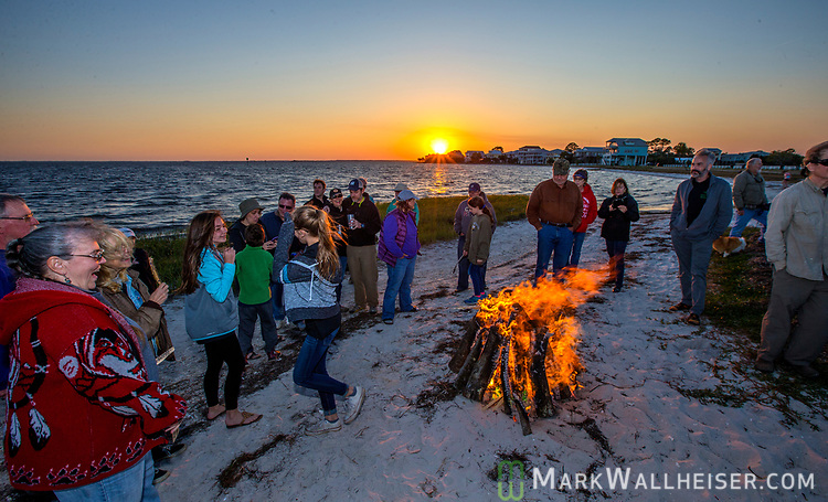Swami and the Festoons play at the 2017 Wind Ceremony at Shell Point Beach in the Wakulla County panhandle of Florida put on by the Shell Point Sailboard Club.