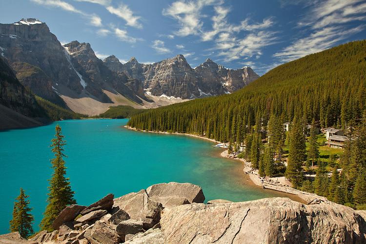 Moraine Lake in Banff National Park, Alberta; Canada