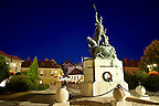Statue of Istvan Dobo, Dobo square, Eger, Hungary