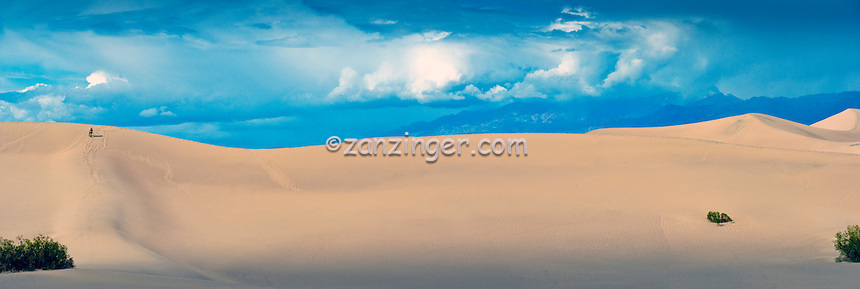 Death Valley National Park, DVNP, Stovepipe Wells, Sand Dunes Hiker, Panorama CGI Backgrounds, ,Beautiful Background
