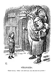 """Strangers. Father Christmas. """"What! Not know me!— Oh, this must be altered!"""""""