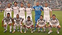 CARSON, CA - October 16, 2011: LA Galaxy starting lineup for the match between LA Galaxy and Chivas USA at the Home Depot Center in Carson, California. Final score LA Galaxy 1, Chivas USA 0.