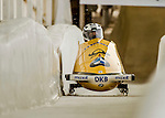 8 January 2016: Mariama Jamanka, piloting her 2-man bobsled for Germany, enters the Chicane straightaway on her first run, ending the day with a combined 2-run time of 1:55.69 and earning a 7th place finish at the BMW IBSF World Cup Championships at the Olympic Sports Track in Lake Placid, New York, USA. Mandatory Credit: Ed Wolfstein Photo *** RAW (NEF) Image File Available ***