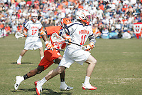 University of Virginia men's lacrosse player George Huguely (11) plays against Syracuse March 07, 2010 at Klockner Stadium in Charlottesville, VA.  George Huguely, 22, a fourth-year student from Chevy Chase, Md., has been charged with first-degree murder in the death of UVa women's lacrosse player Yeardley Love, 22, a fourth-year student from Cockeysville, Md., that took place early Monday morning May 3, 2010 in Charlottesville, Va. Photo/Andrew Shurtleff