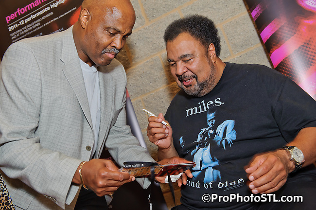 Reception after George Duke, Marcus Miller and David Sanborn concert at Touhill in St. Louis, MO on Aug 7, 2011.