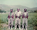 Iran 1983 .In Ziweh, in the middle, Akram Agha, with some of his peshmergas .Iran 1983 .A cote de Ziweh, au centre, Akram Agha avec des peshmergas