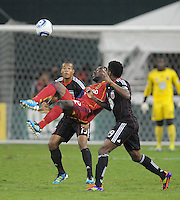 Real Salt Lake forward Jean Alexandre (12) goes up fro a bicycle kick. D.C. United defeated Real Salt Lake 4-0 at RFK Stadium, Saturday September 24 , 2011.