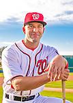 28 February 2016: Washington Nationals second baseman Danny Espinosa poses for his Spring Training Photo-Day portrait at Space Coast Stadium in Viera, Florida. Mandatory Credit: Ed Wolfstein Photo *** RAW (NEF) Image File Available ***