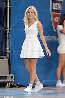 FLUSHING NY- AUGUST 27: Zara Larsson performs during Arthur Ashe kids day at the USTA Billie Jean King National Tennis Center on August 27, 2016 in Flushing Queens. Photo byMPI04 / MediaPunch