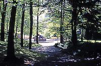 Portland: Pettygrove Park, Portland Center, 1963. Halprin & Assoc. Park is less than 1 acre. Photo '86.