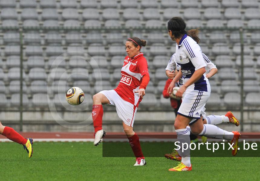 RSC Anderlecht Dames - Standard Femina de Liege : Audrey Demoustier.foto DAVID CATRY / Vrouwenteam.be