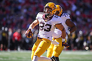 College Park, MD - October 15, 2016: Minnesota Golden Gophers running back Shannon Brooks (23) celebrates after scoring a touchdown during game between Minnesota and Maryland at  Capital One Field at Maryland Stadium in College Park, MD.  (Photo by Elliott Brown/Media Images International)